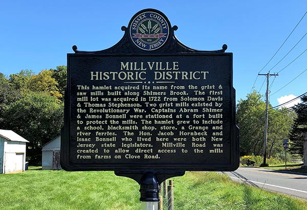Millville Historic District Marker