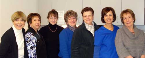 Public Health Nursing Staff.  From left: Betty, Sue, Ellen, Marty, Cheryl, Michele, Maria