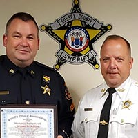 Sussex County Sheriff's Officer Receives the Meritorious Service Award
