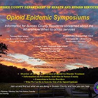Sussex County Office of Substance Abuse Services Hosting Opioid Epidemic Symposiums in October