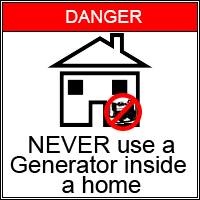 Generator Danger Warning