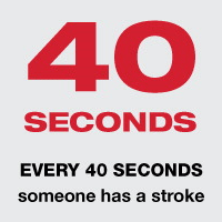 Every 40 seconds someone has a stroke