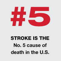 Stroke is the number 5 cause of death in the U.S.