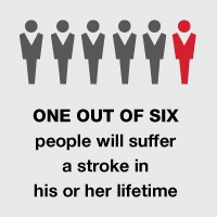 One out of six people will suffer a stroke in his or her lifetime