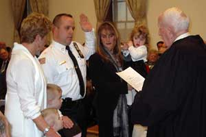 Image of Michael Strada being sworn in as Sussex County Sheriff