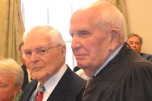 Reverend Ernest Kosa and Judge Frederic G. Weber were recognized for their years of service to Sussex County.