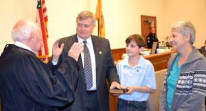 Freeholder George Graham is sworn in