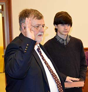 Freeholder Director Phillip R. Crabb is sworn in