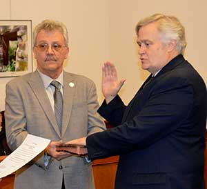 Freeholder Director George F. Graham is sworn in
