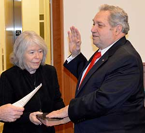 Freeholder Deputy Director Carl F. Lazzaro is sworn in