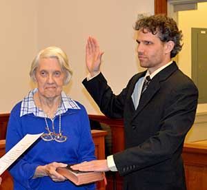Freeholder Jonathan M. Rose is sworn in