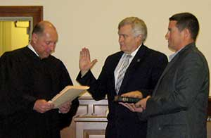 Freeholder George F. Graham is sworn in