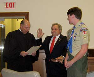 Freeholder Director Carl F. Lazzaro is sworn in