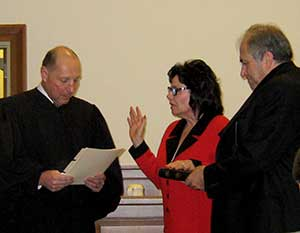Freeholder Sylvia Petillo is sworn in