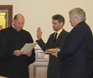 Freeholder Deputy Director Jonathan M. Rose is sworn in