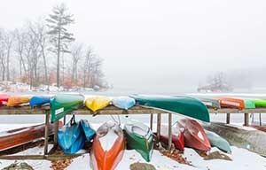Frozen Kayaks Photo by Catherine Babin
