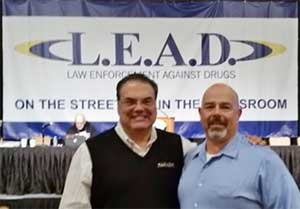 Sussex County Municipal Alliance Coordinator Nick Loizzi (r) with L.E.A.D. Executive Director Nick DeMauro