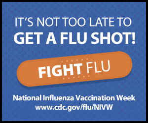 It's not too late to get a flu shot!