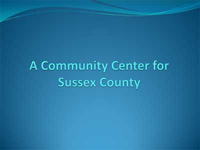 Title Slide from Community Center Presentation