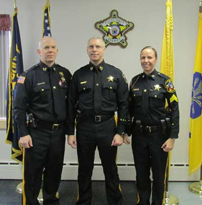 Sheriff announces promtions sussex county news for Bureau uniform