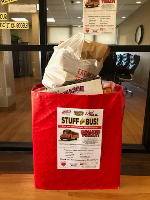 Stuff the Bus at the Homestead