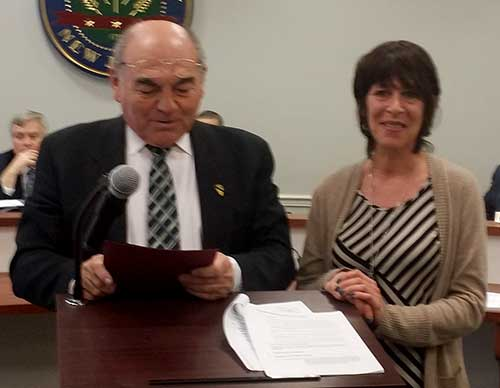 Freeholder Richard A. Vohden and Gwen Federico