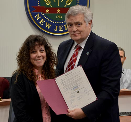 Freeholder George Graham with Christine Florio, Director, Division of Community and Youth Services