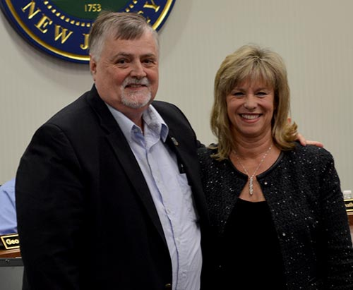 Freeholder Phil Crabb with Tammie Horsefield, President, Sussex County Chamber of Commerce