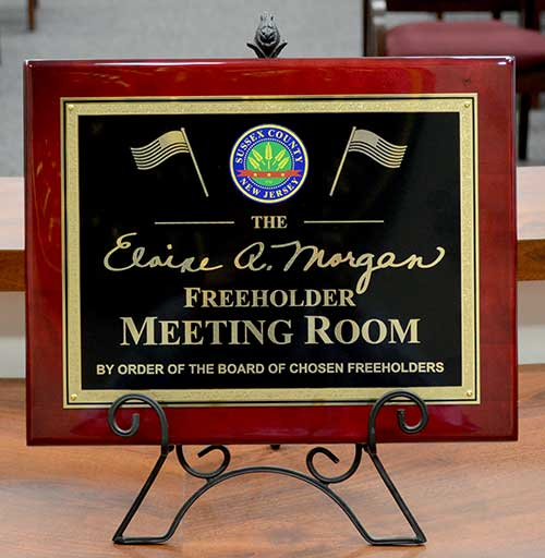 Meeting room plaque