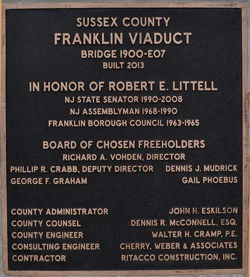 Viaduct Plaque