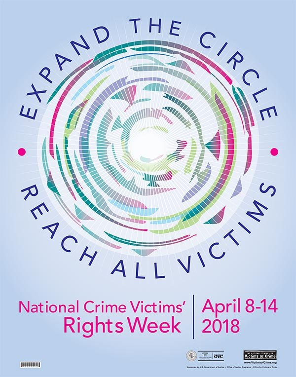 2018 Crime Victims Rights Week Theme Poster