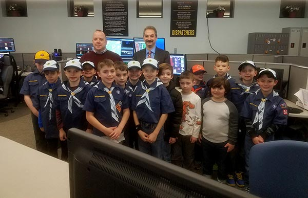 Sheriff Michael F. Strada, Mark Rozek and Cub Scouts