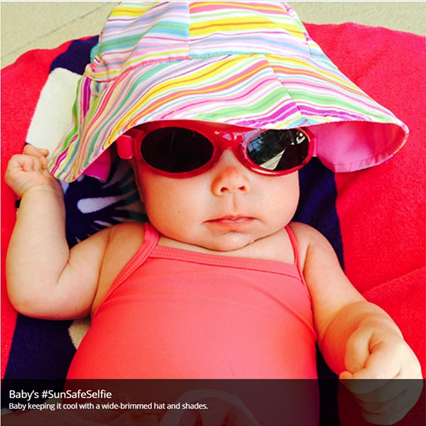 Baby with sun protection