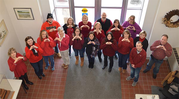 Employees Wear Red at Sussex County Administrative Center