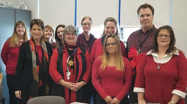 Wear Red Day at Wheatworth Facility
