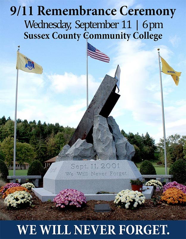 911 Memorial at Sussex County Community College