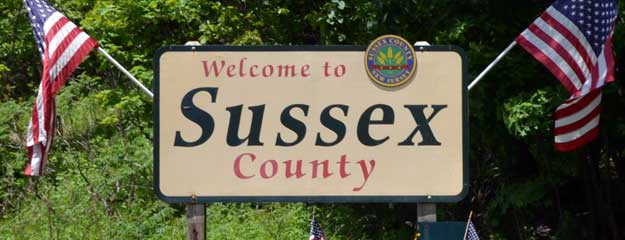 Welcome to Sussex County Sign
