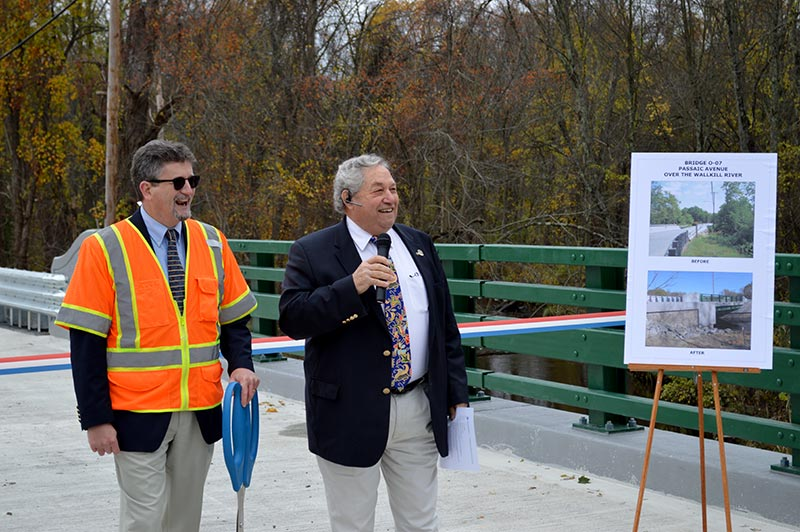 County Engineer Bill Koppenaal and Freeholder Director Carl Lazzaro