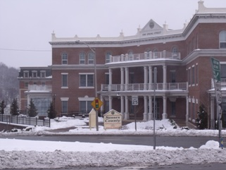 County administration building after snow storm
