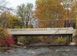 New Bridge with Concrete Balustrades