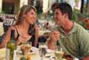 Image of a couple enjoying dinner at a restaurant.