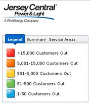 Jersey Central Power and Light Power Outages