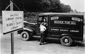 Bookmobile at Walpack Library Station