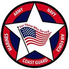 Star, flag and five military services