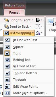 Sample image demonstrates text formatting in Microsoft Word