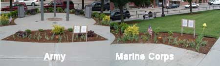 Veterans Memorial Gardens Army and Marines
